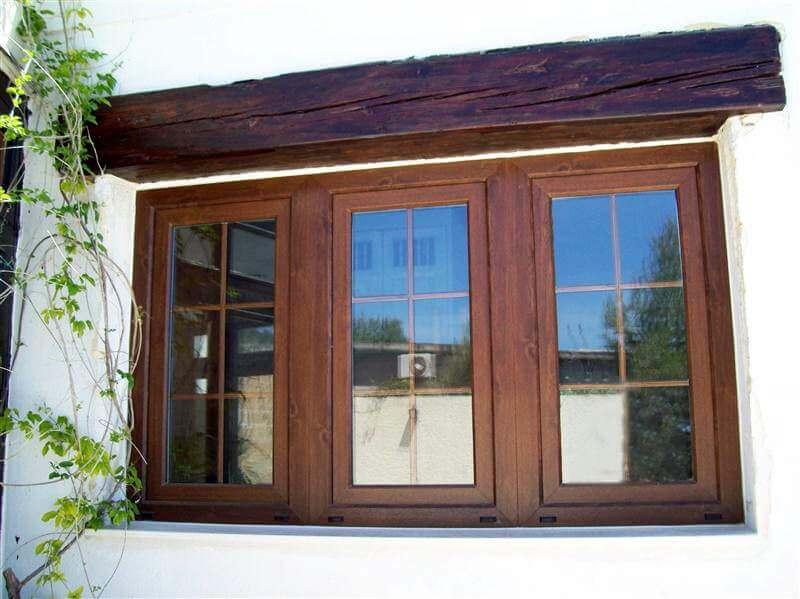 wooden effect window